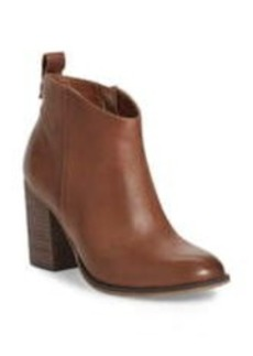 Brass Plum Lance Leather Block Heel Bootie- Wide Wdith Available