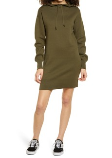 Brass Plum Long Sleeve Hoodie Sweater Dress