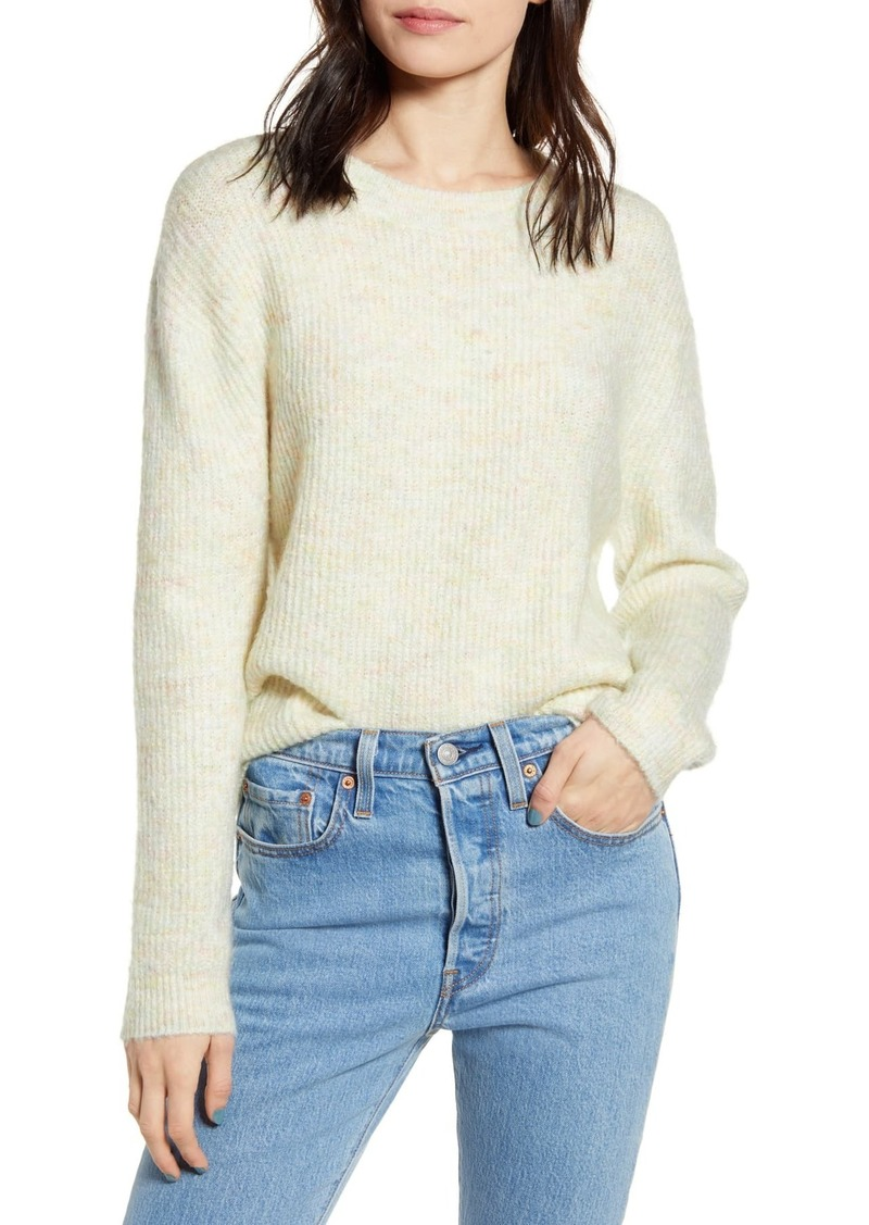 Brass Plum Marl Pullover Sweater