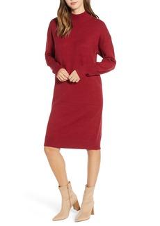 Brass Plum Mock Neck Sweater Dress