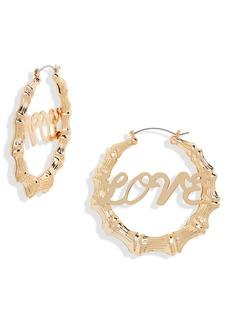 Brass Plum Oversized Love Bamboo 57mm Hoop Earrings