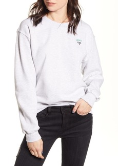 Brass Plum Oversized Zodiac Sweatshirt