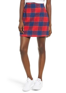Brass Plum Plaid Melton Skirt