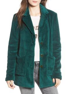 Brass Plum Plush Fleece Coat
