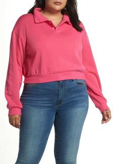 Brass Plum Polo Sweatshirt (Plus Size)