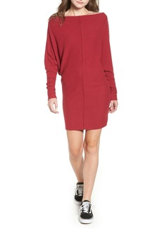 Brass Plum Rib Bateau Sweater Dress (Plus Size)