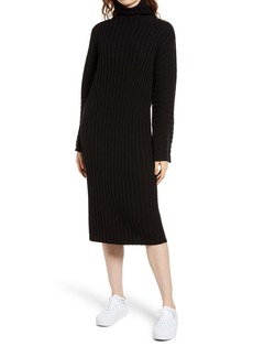 Brass Plum Ribbed Long Sleeve Sweater Dress