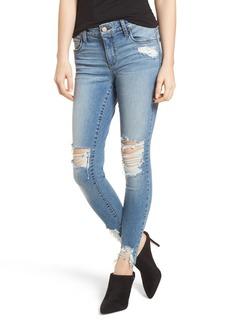 Brass Plum Ripped Skinny Jeans (Vintage)