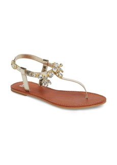 03d01b5f2ef Brass Plum Rock Embellished T-Strap Sandal (Women)