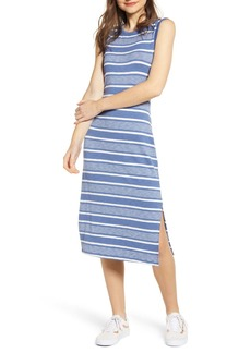 Brass Plum Stripe Tank Midi Dress (Plus Size)