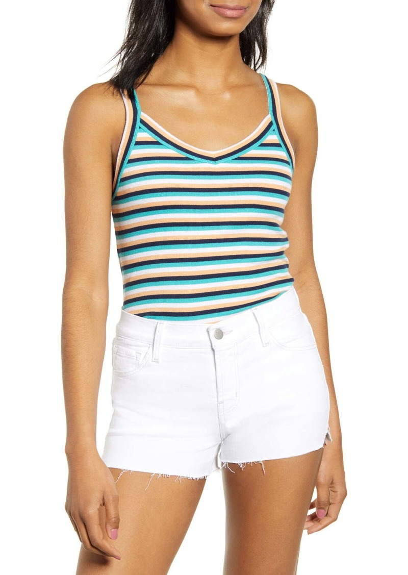 Brass Plum Stripe V-Neck Tank (Regular & Plus Size)