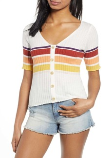 Brass Plum Summer Stripe Sweater
