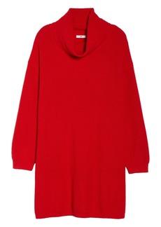 Brass Plum Turtleneck Sweater Dress (Plus Size)