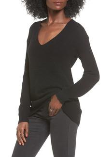 Brass Plum V-Neck Sweater