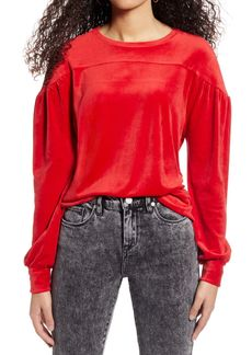 Brass Plum Velour Sweatshirt