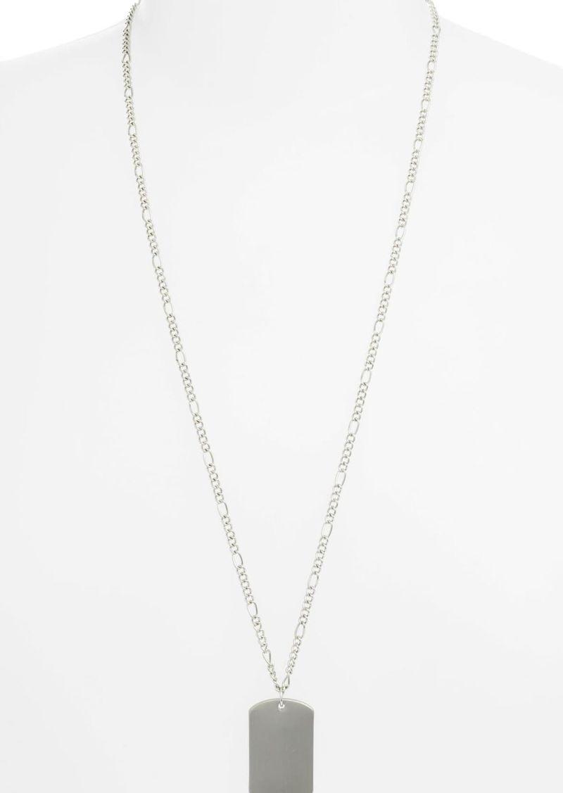Brass Plum X Claudia Sulewski Dog Tag Pendant Necklace