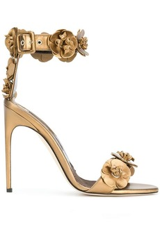 Brian Atwood 3D flower detail sandals