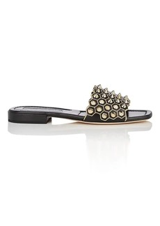 Brian Atwood Women's Allegra Nucci Studded Leather Sandals