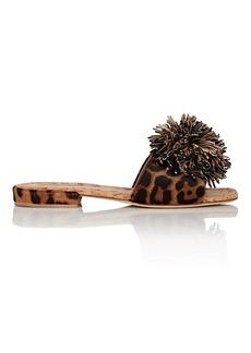 Brian Atwood Women's Allegra Pom-Pom Calf Hair Sandals