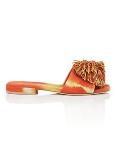 Brian Atwood Women's Allegra Suede Pom-Pom Sandals