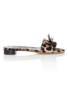 Brian Atwood Women's Cleo Calf-Hair Slide Sandals