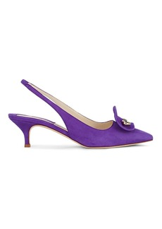 Brian Atwood Women's Giuliaa Suede Slingback Pumps