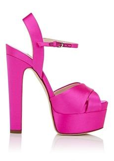 Brian Atwood Women's Madison Satin Platform Sandals