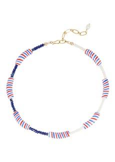 Brinker & Eliza Candy Stripe Beaded Necklace