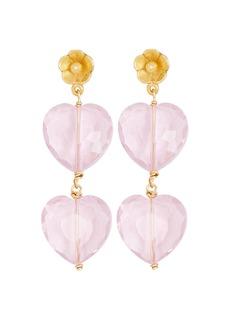 Brinker & Eliza Courtney Heart Drop Earrings