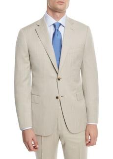 Brioni 150s Wool Herringbone Super Two-Piece Suit