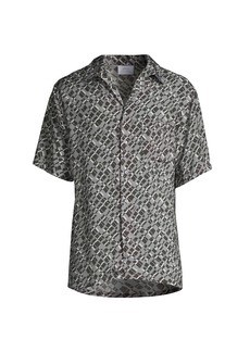 Brioni Abstract Short-Sleeve Shirt