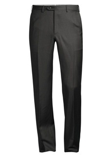 Brioni Anthracite Basic Wool Trousers
