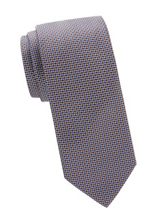 Brioni Basketwoven Print Silk Tie