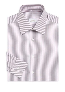 Brioni Bengal Classic-Fit Cotton Dress Shirt