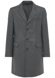 Brioni Bp Single Breast Wool Carcoat