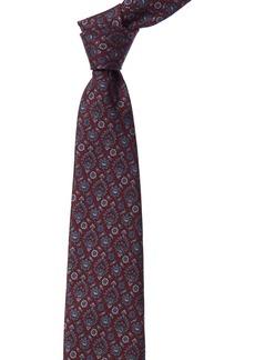 Brioni Burgundy Floral Silk Tie
