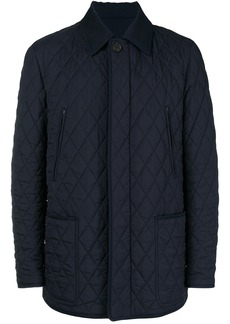 Brioni button quilted jacket - Blue