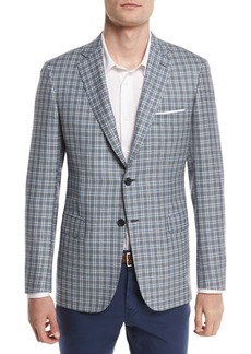 Brioni Check Plaid Two-Button Sport Coat