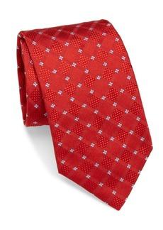 Brioni Check Squares Silk Tie