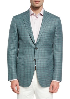 Brioni Check Wool-Silk Sport Coat