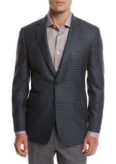 Brioni Check Wool Sport Coat