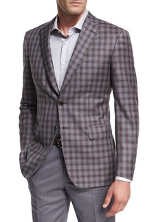 Brioni Check Wool Two-Button Sport Coat