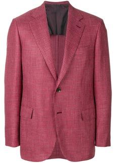 Brioni checked blazer - Red