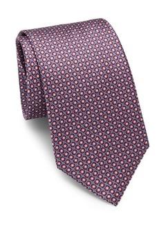 Brioni Circle & Dot Silk Tie