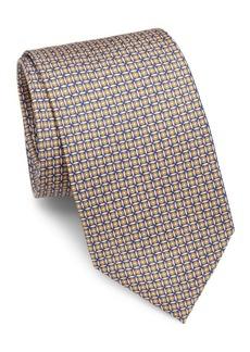 Brioni Circle & Square Silk Tie