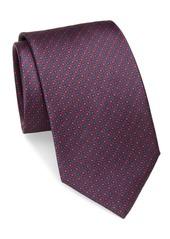 Brioni Circle Dot Neat Silk Tie