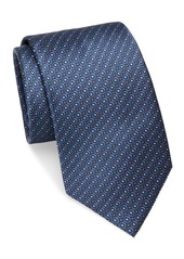 Brioni Circle Dot Neat Silk Tie