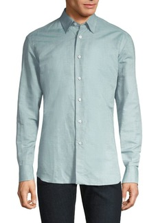 Brioni Classic Regular-Fit Cotton Button-Down Shirt