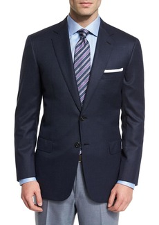 Brioni Colosseo Textured Two-Button Wool Blazer