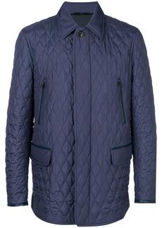 Brioni concealed fastening coat - Blue